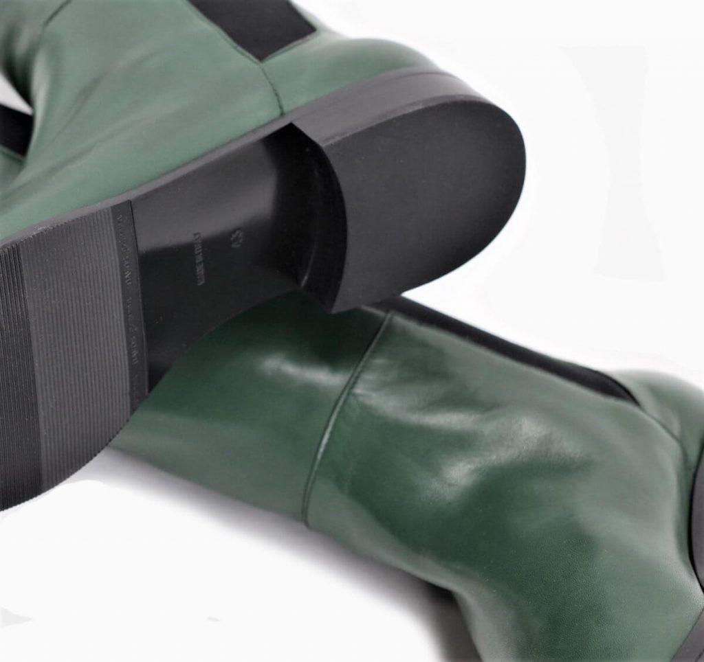 Overknee Stiefel für lange Beine in grün