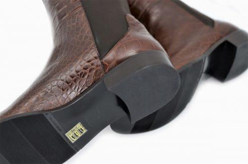 Overknee Stiefel für lange Beine in CrocodilePrint