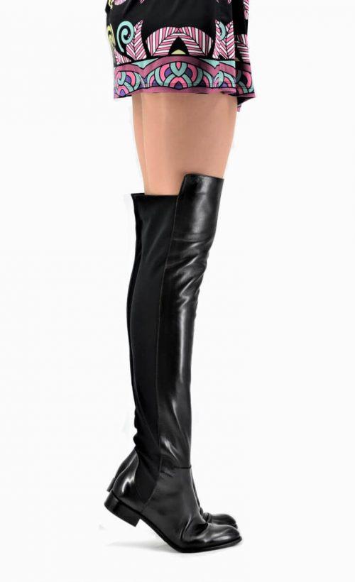 Overknee Stiefel für lange Beine in schwarz