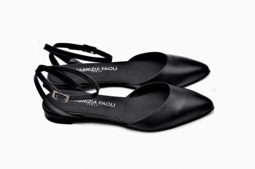 Riemchen Ballerina schwarz