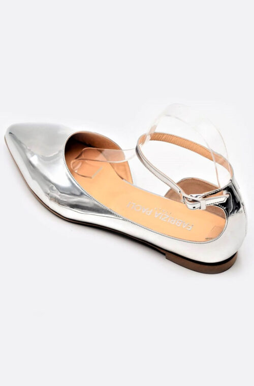Party-Ballerinas Lackleder silber
