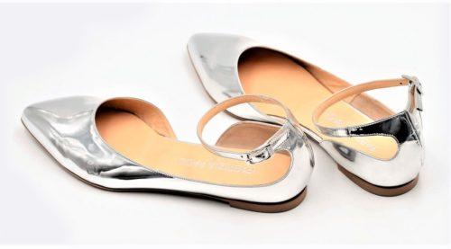 Party-Ballerinas Lackleder silber