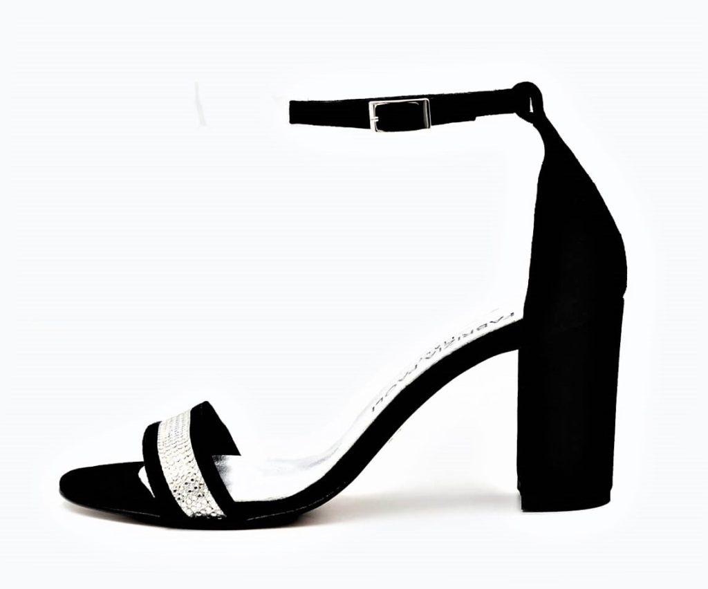 Elegante Wildleder Sandaletten mit Strass