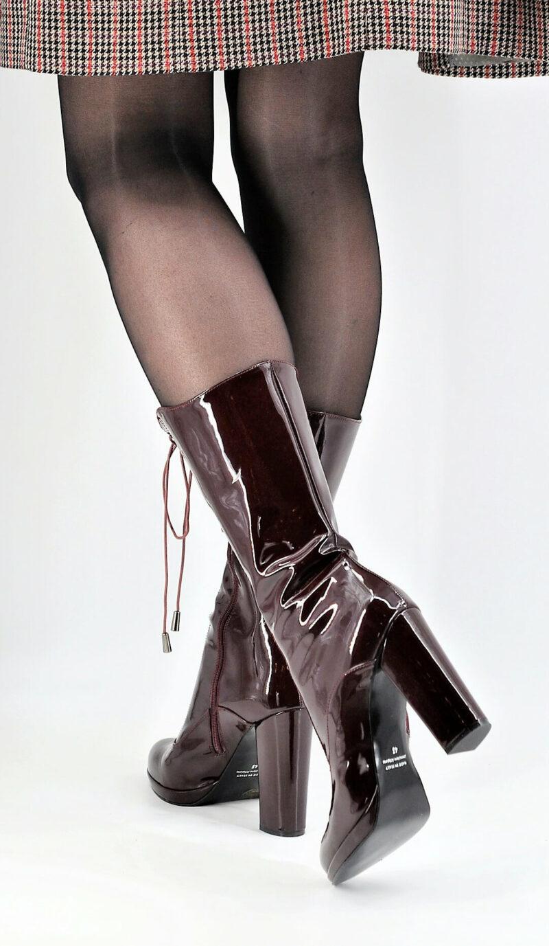 Cancan-Style Stiefel bordeaux