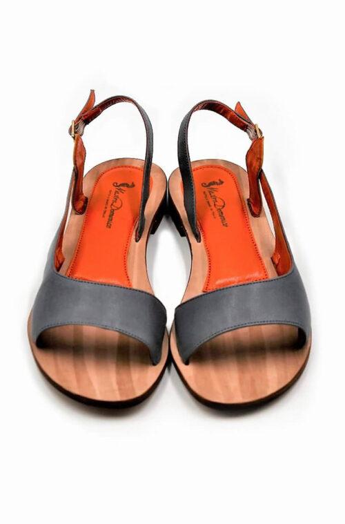 Sandalen in Jeansfarbe