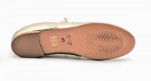 Flats platin mit Schnüren