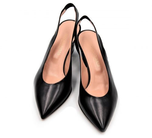 Elegante Slingbacks in schwarz