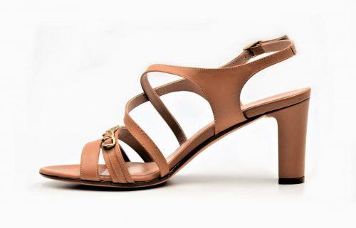 Sandaletten beige und gold
