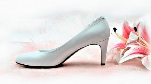 Weiße Lederpumps