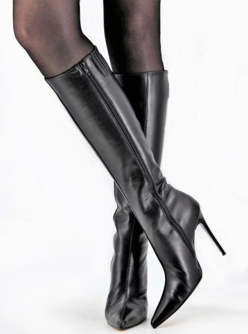 Full Black Stiletto Boots