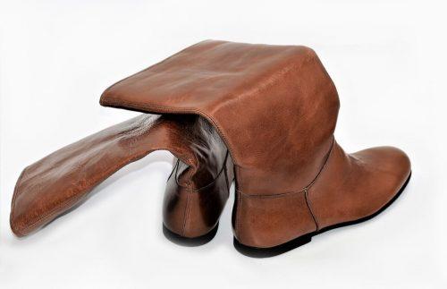 Braune Stiefel für die Übergangszeit in Old Look Leder