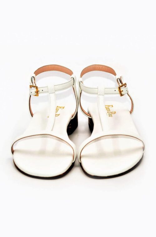 Sandalen weißes Leder