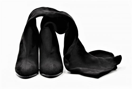 Overknees black Alcantara