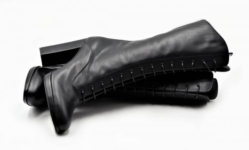 Cancan-Style Stiefel noir