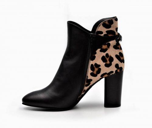 Stiefeletten Leopard Look