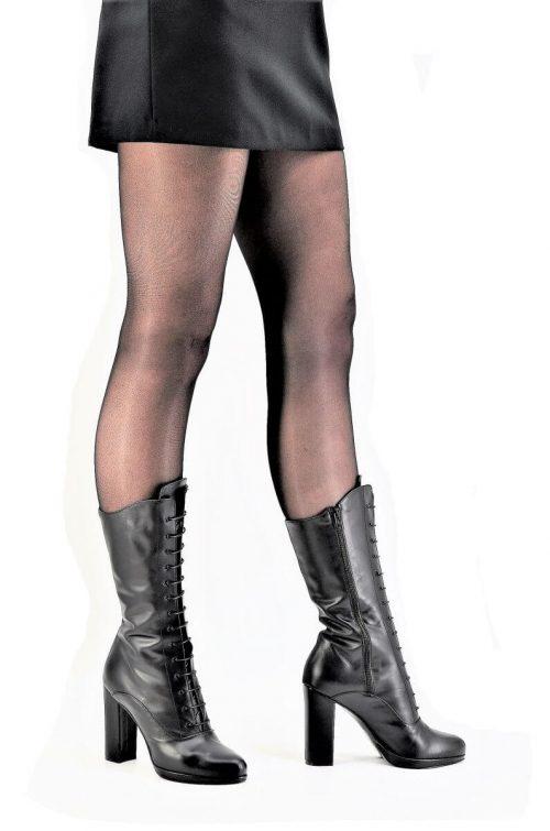 Cancan-Style Stiefel noir