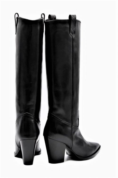 Tall Cowboy Boots in black