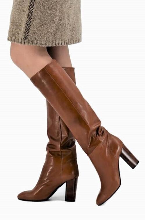 No Zip Boots cognac