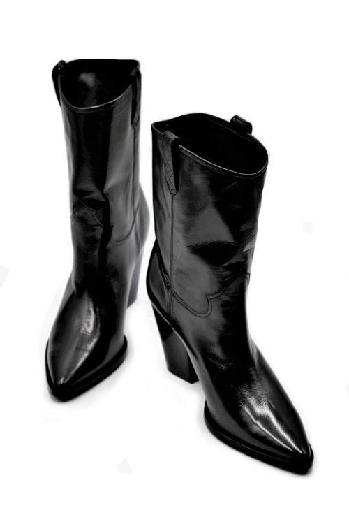 Cowboy boots short black