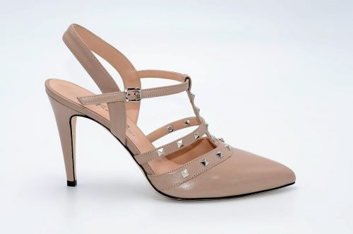 Slingback-Heels nude/beige