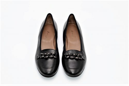 Loafer schwarz mit Kette
