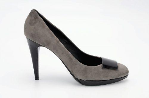 High Heels Wildleder grau