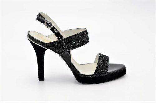 High Heels Sandalen mit Glitzer