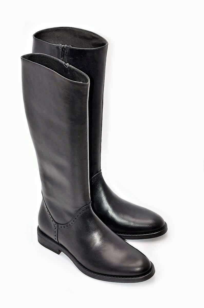 Stiefel klassisch schwarz | Damenschuhe und Stiefel Made In Italy.