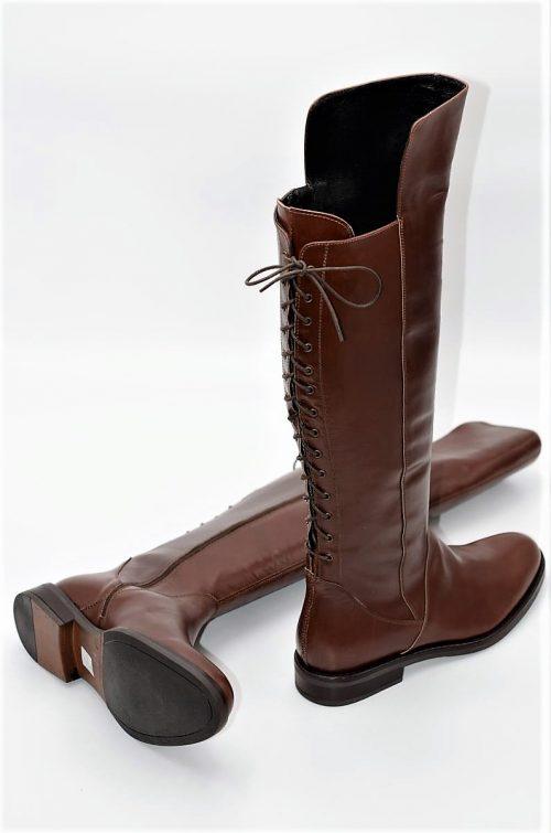 Stiefel 14-Loch in cognac
