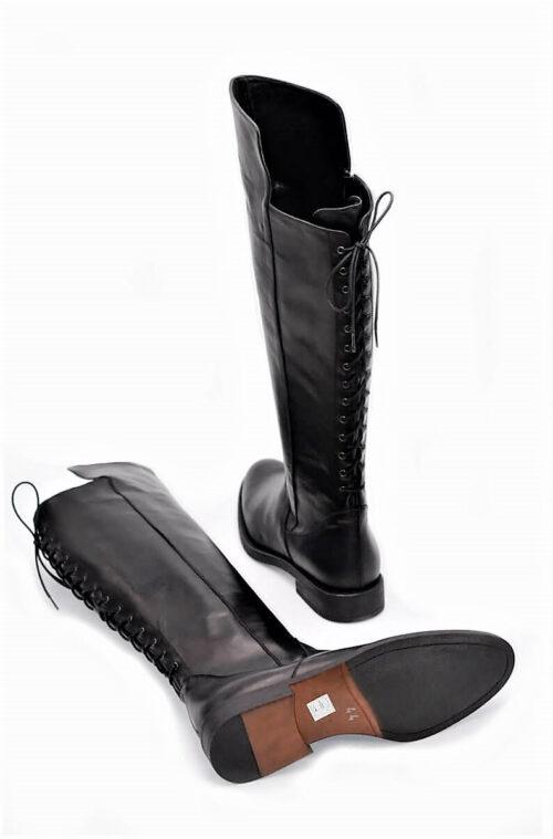 Stiefel 14-Loch in schwarz XL Schaftweite