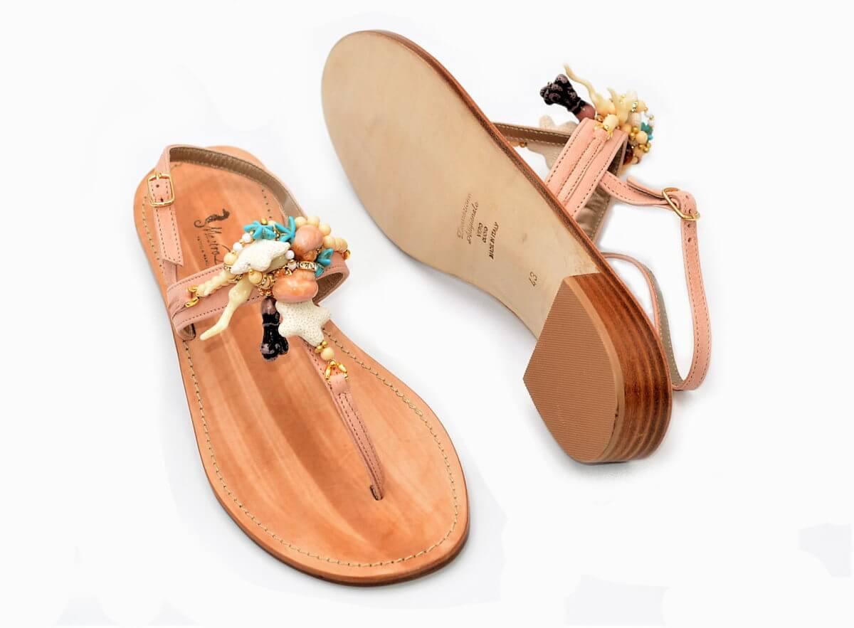 Damenschuhe Muscheln PastelrosaExlusive Sandalen Und Stiefel Aus iPkZXuTwOl