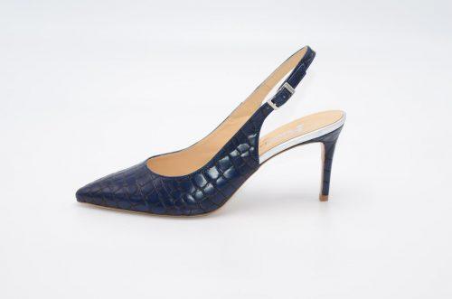 Slingbacks blaues Leder