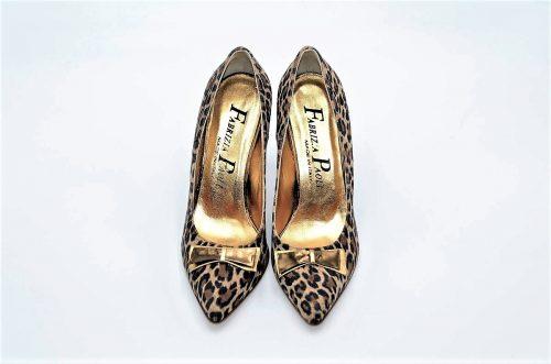 Dekolleté Leopardenmuster