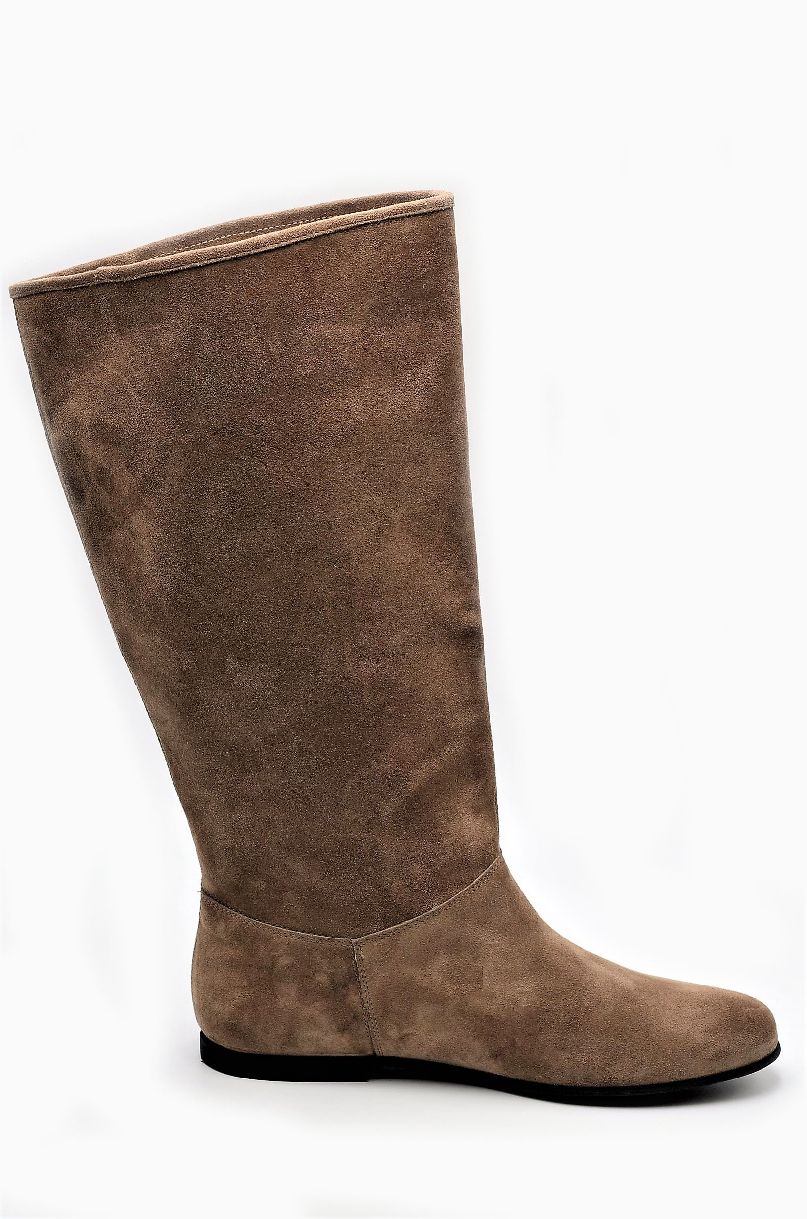 on sale 015f6 2be48 Stiefel Wildleder taupe XL-Schaftweite | Exlusive Damenschuhe und Stiefel  aus Italien. NoLimitShoes.com