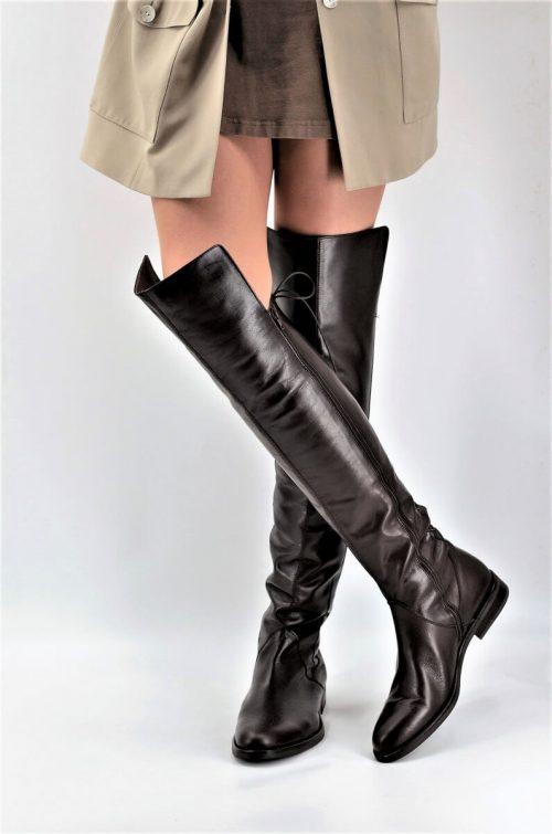 """Stiefel 19-Loch für lange Beine """"chocolate"""" braun"""