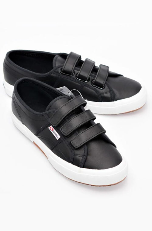 Superga aus weichem Leder Black and White