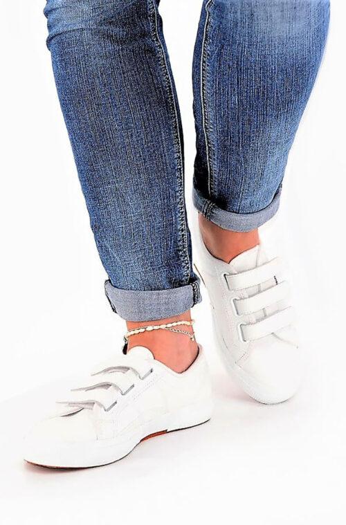 Ledersneaker weiß