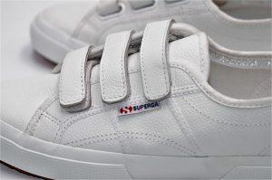 Superga aus weichem Leder White