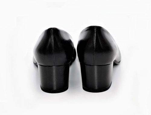 Dekolleté schwarz Absatz 5 cm