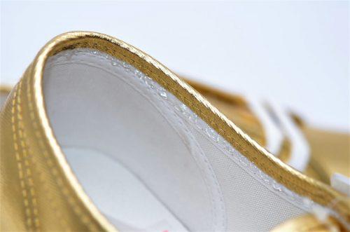Superga gold aus Textil