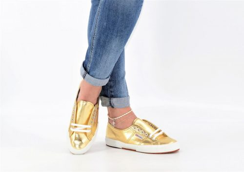 Superga gold aus Textil