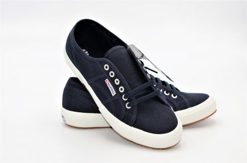 Superga in blu navy aus Baumwolle