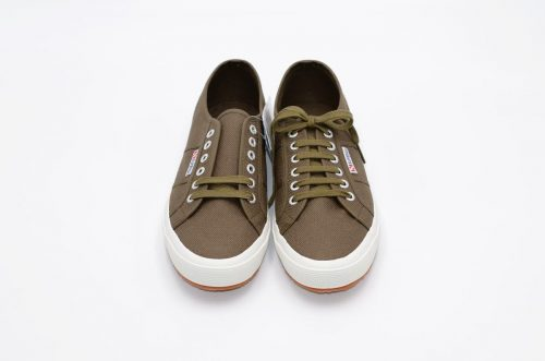 Superga military green aus Baumwolle