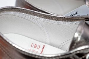 Superga metallic grey aus Textil