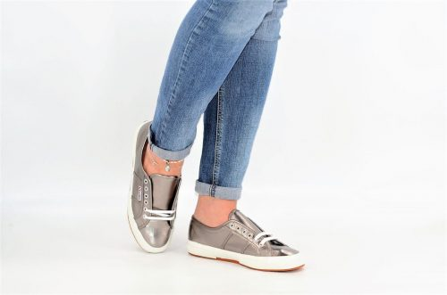 Superga metallic grey aus Textil