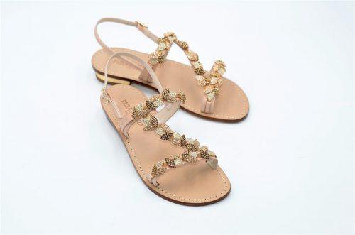 Paola Fiorenza Capri Sandals sfumature di ambra