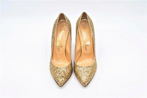 High Heels Glitzer gold