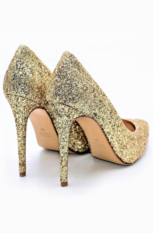 High Heels Glitzer gold