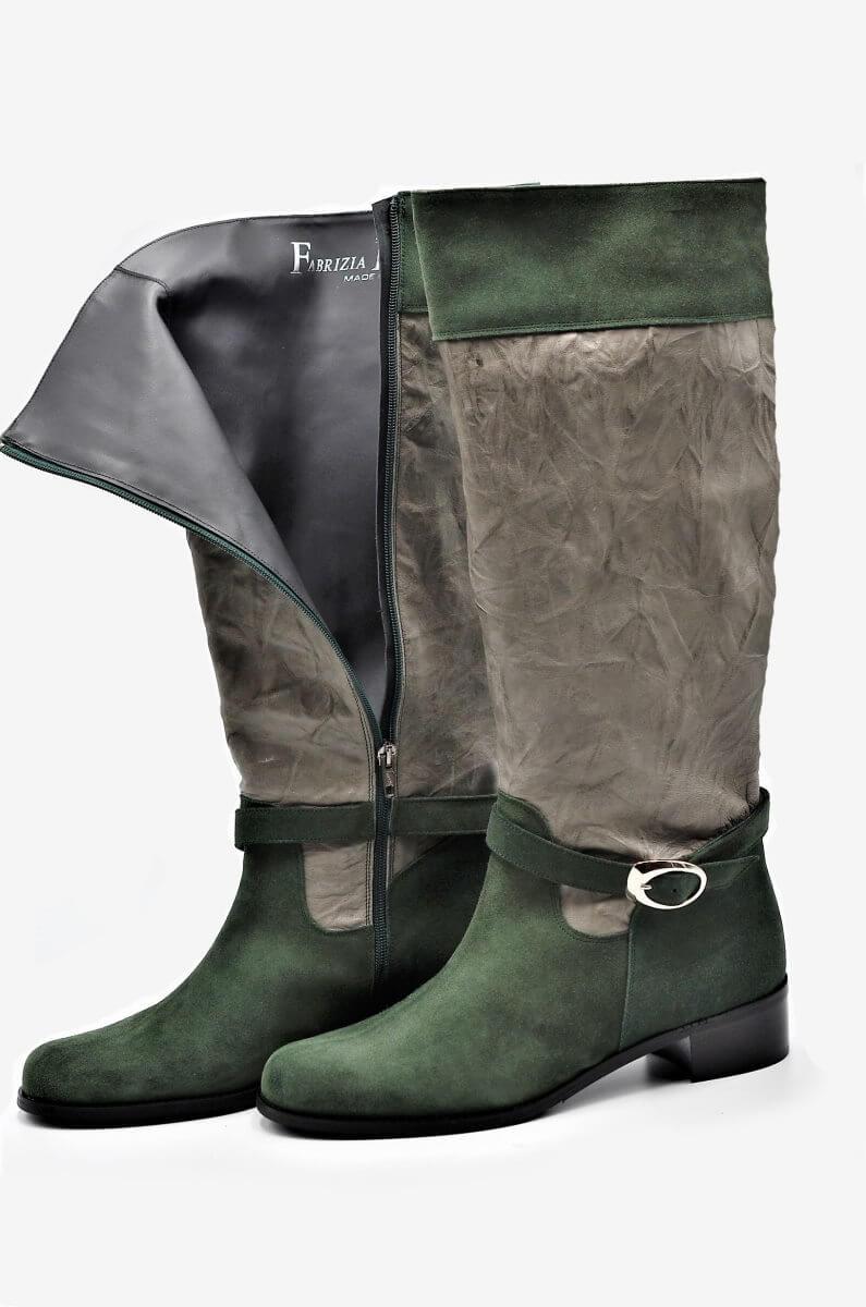 Eleganter Stiefel Jagd Style   Exlusive Damenschuhe und Stiefel aus Italien.