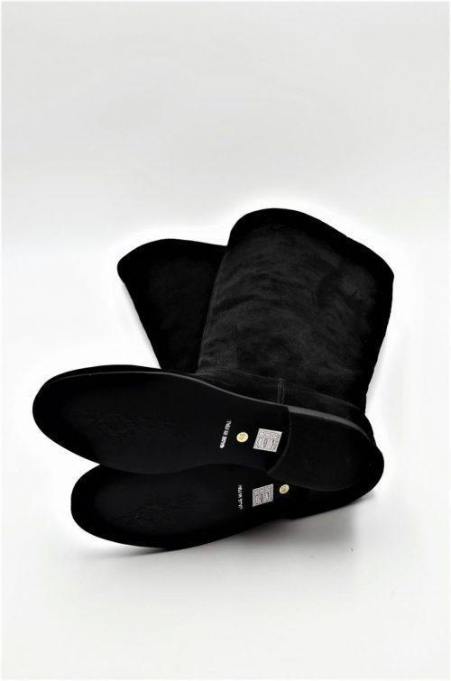 Stiefel Wildleder schwarz für die Übergangszeit